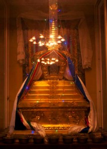 Rinpoche's kudung stupa, inside the Sundarijal temple.